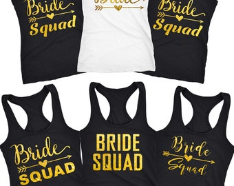 Bride Squad shirts, bride squad,squad shirts, bridesmaid tank tops , bridal tank, squad tank, bride gifts, bridal shower gifts  D3130