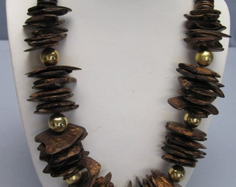 70s Retro Necklace Big-Bold-Bulky Fun Fashion For Beach Wear, Pool Parties, Summertime Parties And Travel