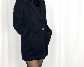 Maje navy blue Wool/Mohair overcoat