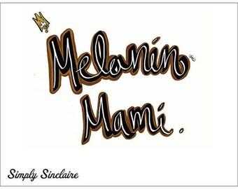 Melanin Mami Postcard
