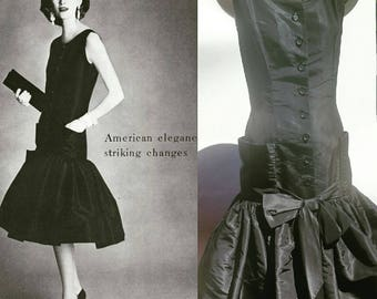 RARE* 1956 Traina-Norell dress featured in Vogue Mag. 1956 March issue