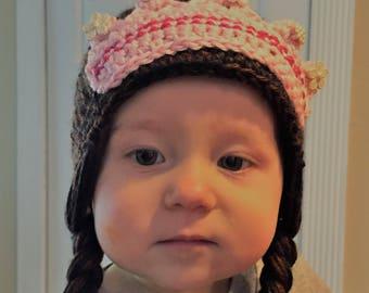 Princess Hat in Black/Brown