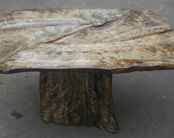 Live Edge Figured Tiger Curly Maple Table