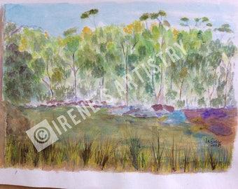 Watercolour Painting - Morning at Parramatta Lakes