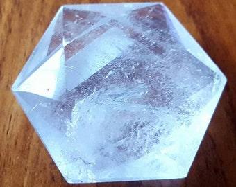 Lovely Clear Quartz Hexagon - Mater Healer - Crystal Grid - Crystal Healing