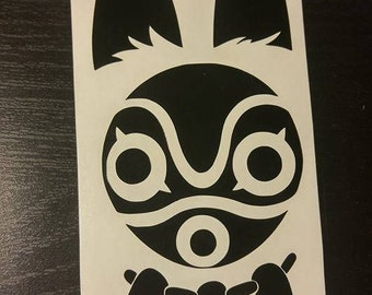 Princess Mononoke - Wolf spirit mask decal