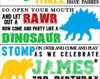 5x8 Dinosaur Invitation