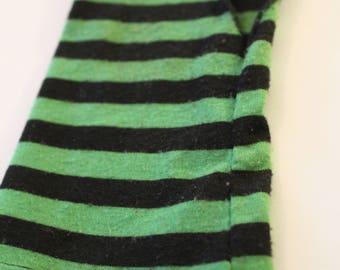 ONE Green/Black Striped Fingerless Glove