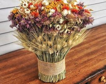 Country Garden Stack Bouquet | Flower Stack | Flower Centerpiece | Rustic Centerpiece
