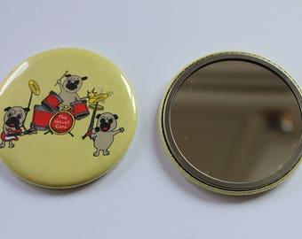 Pug Hand Mirror (Velvet Ears)