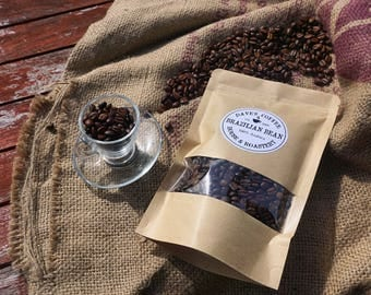 Brazilian Coffee Bean, Artisan Coffee, Freshly Roasted Coffee, Single Origin Brazilian Bean, Coffee Lover, Whole bean and Espresso Ground