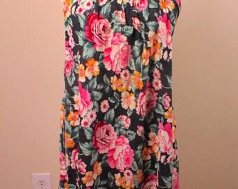 Vintage 80's Floral Sundress