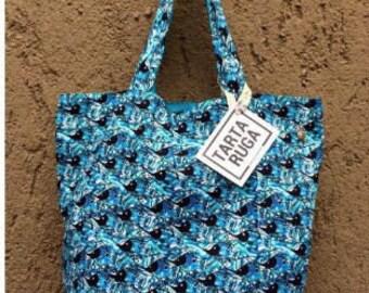Fishies Reversible Tote Bag