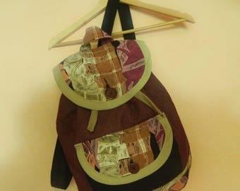 Backpack / Handmade from recycled material / MORJA design