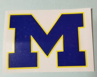 Michigan Blue w/yellow decal