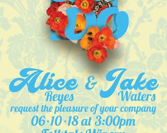 Bouquet Floral Custom Wedding Invitations
