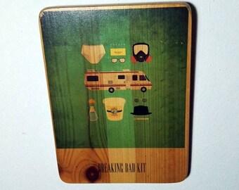 Breaking Bad kit - Vince Gilligan - Walter White - Bryan Cranston -  Jesse Pinkman - Aaron Paul - crime drama television - reclaimed wood