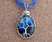 Yggdrasil, Labradorite Tree of Life Necklace, Wire Wrapped Jewelry, Labradorite Necklace, Tree of Life Pendant, Wire Wrap, Sierra Club