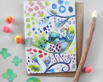 Fancy Bird Card, Gift Card, Greeting Card