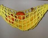 Banana Hammock, Fruit Hanger, Holder, Net, Bright Yellow