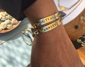 Nasty Woman Brass Bracelet - handstamped - customized - 2017 Feminist - positive sayings - Free US Shipping - Hashtag Nasty Woman