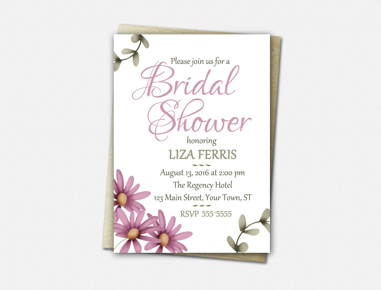 Bridal shower invitations rustic bridal shower invitation for Invitations for wedding shower