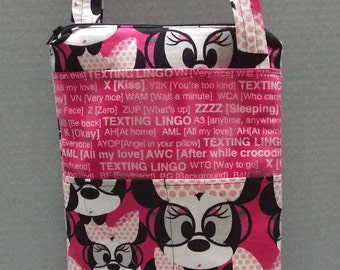 Gracie's Hipster Bag or Crossbody Bag Minnie Mouse Fabric