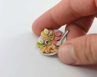 High-Protein Brunch - 1:12 Dollhouse Miniature Food