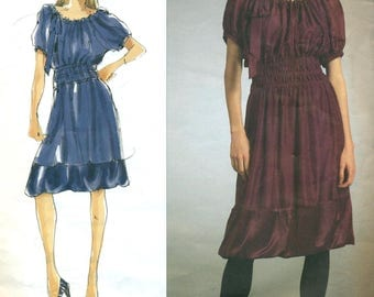 VOGUE 2978 DKNY Donna Karan Dress & Slip Size 14 - 16 - 18 - 20 English and French Francais Instructions  ©2007