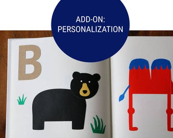 Add-On: Personalize Your Alphabet Book