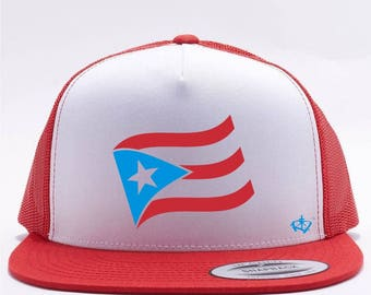 Puerto Rican Flag Red Snap Back