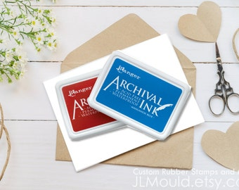 JLMould Rubber  HUGE 4x6 Ink Pad Archival Ink Pad - you choose the color