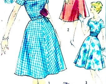 60s Prom Dress Bridesmaid Grad Party Frock Vintage sewing pattern Simplicity 3044 Bust 36