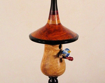 Miniature Bird House Turned From Exotic Woods No. 134 by Bryan Nelson