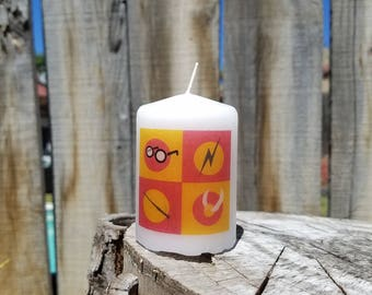 Harry Potter Fan Inspired 2 x 3 Pillar Candle