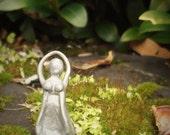 A very Mini Goddess Altar Figurine - Silver