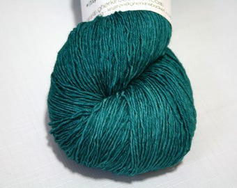 Hand Dyed Artisan Yarn, Tonal Kettle Dyed Heavy Lace, Semisolid SW Merino Wool Sock Yarn, Going Under #42117, Long Stride Sock (750yds)