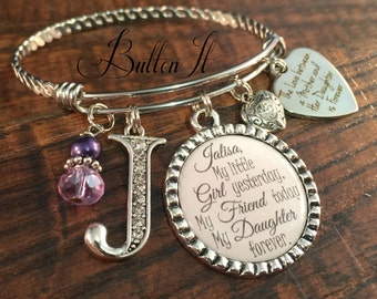 Mother daughter jewelry, mother daughter bracelet,PERSONALIZED gift, BANGLES, charm bangle bracelet, daughter birthday gift, heart