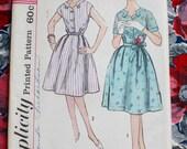 "1960s dress pattern / Simplicity 3957 / 60s day dress / petite size under 5'3"" bust 39"" waist 33"""