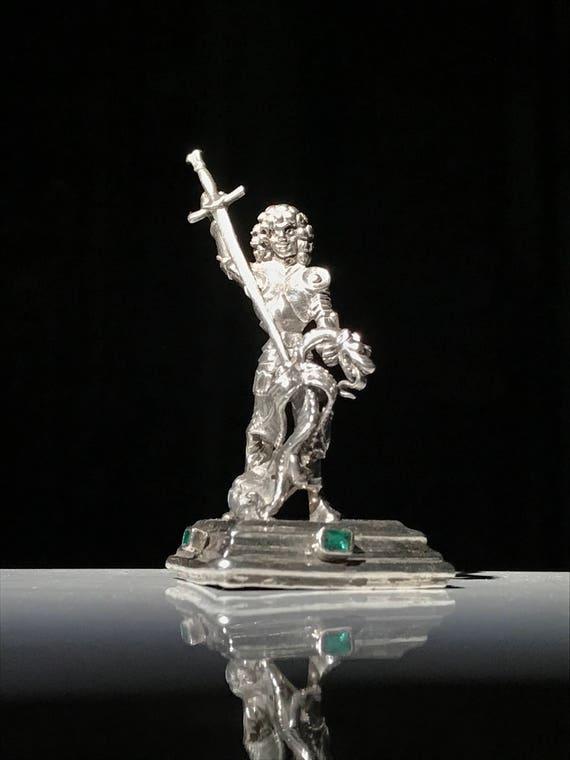 Silver and Emerald Figure of St. George and the Dragon