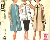 Front Pleated Dress or Top and Skirt Maternity or Not Bust 32 McCalls 7332 Vintage Sewing Pattern