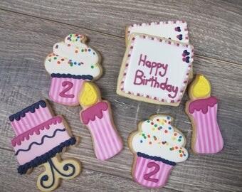 Birthday Sugar Cookies - 1 Dozen
