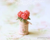 RESERVED for Deborah - Dollhouse Miniature Flowers- Pink Hydrangeas