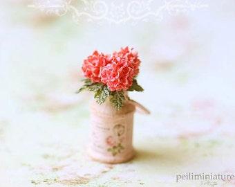 Dollhouse Miniature Flowers- Pink Hydrangeas