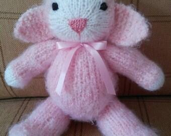 Knitted Lamb - Pink - Stuffed Animal Toy