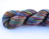 Daydream--hand dyed sock weight yarn, merino and silk single ply, (438yds/100gm)