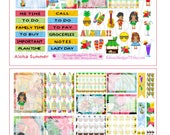 Aloha Summer Planner Stickers~