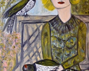 Hope is a thing with feathers. Limited edition print by Vivienne Strauss