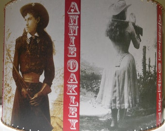 NEW 16 X 16 Annie Oakley Cowgirl, Western Decor, Lamp Shade