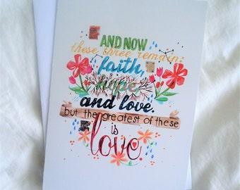 CARD - Faith Hope & Love
